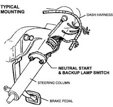 column shift neutral safety backup lamp switch