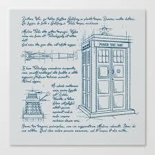 Tardis Plan Canvas Print By Leduc