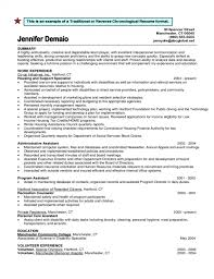 Traditional Resume Format Magnificent Free Download Sample Traditional Or Reverse Chronological Resume
