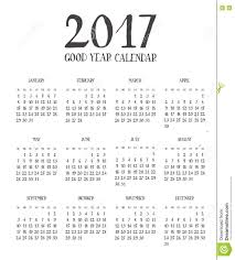 one page calender one page calendar 2017 with lettering months stock illustration