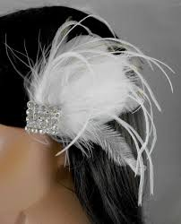 62 best parfait plumes images on pinterest wedding hair Wedding Hair Pieces With Feathers art deco gatsby ivory white bridal head piece champagne peacock feather fascinator vintage wedding hair piece rhinestone, on wanelo Flower and Feather Hair Pieces