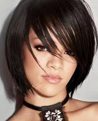 sleek and edgy bob hairstyle for straight hair