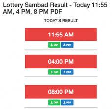 Lottery Sambad Today Results 11 55 Am 4 Pm 8 Pm Pdf 2019