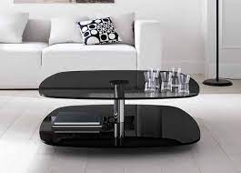 modern black glass coffee table black