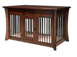 solid wood dog crate coffee table from
