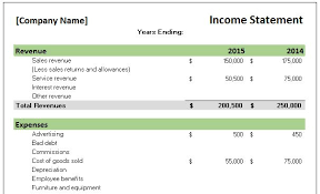 excel income statement free accounting templates in excel