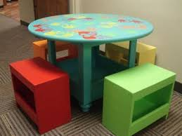 Kid Table & Stools | Do It Yourself Home Projects from Ana White