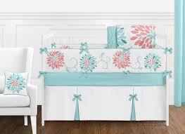 turquoise and c emma baby bedding 9pc crib set by sweet jojo designs
