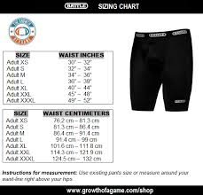The Growth Of A Game Compression Shorts Sizing Chart