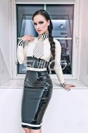 Latex Uniforms Office Lady And Teacher Ruuber Dress Not Including Tie