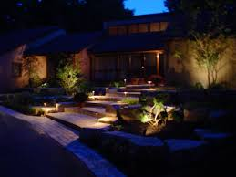 image of outdoor landscape lighting at these time