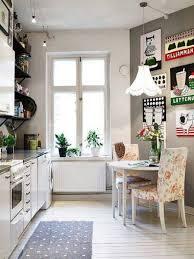 vintage kitchen design beige lacquer finish kitchen cabinet three kitchen chairs set white granite countertop light