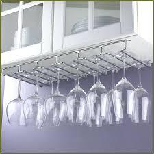Wine Rack: Under Cabinet Stemware Rack Brushed Nickel Under Cabinet Wine  Glass Rack Ikea Under