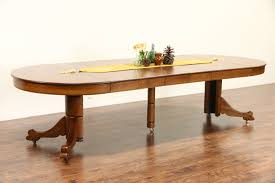 Antique Round Kitchen Table Oak 4 Round 1910 Antique Carved Pedestal Dining Table 6 Leaves