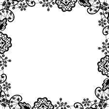 Black And White Greeting Card Wedding Invitation Or Greeting Card With Black Lace On White