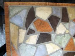 tiled table grout