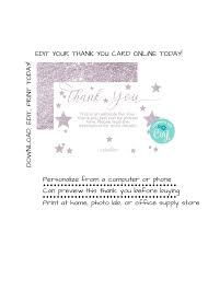 Instant Download Twinkle Twinkle Thank You Card Star Thank