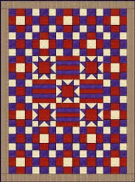Free Union & Confederate Soldier's Patriotic Quilt Patterns & Stars were among the earliest pieced patterns in America so they had been  used on patriotic quilts long before the Civil War. Adamdwight.com