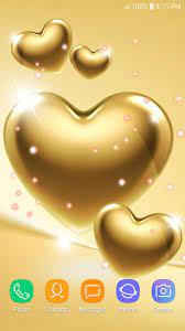 Gold Heart Wallpaper for Android - APK ...