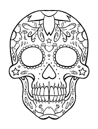 Mexico Coloring Page Coloring Page Skull Coloring Pages Free