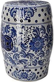 blue garden stool. Oriental Furniture 18\ Blue Garden Stool Y