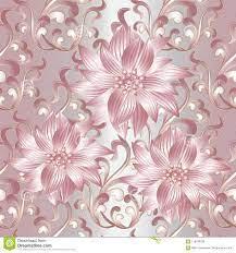 Pink 3d Flowers Seamless Pattern. Stock ...