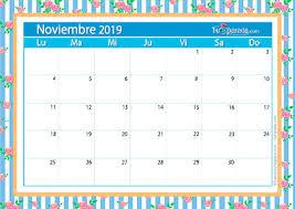 Calendario Noviembre 2020 Para Imprimir Calendario Deco Noviembre 2019 Calendario Deco 2020