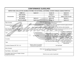 Conformance Guidelines The Johnson Gage Company