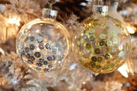 Christmas Ornament DIY Craft - Gold and Silver Mixed Metals in Clear Glass