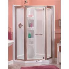 aqua glass 42 in neo angle shower base in white
