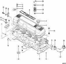 mercruiser 470 2 barrel mercury 224 i l4 1983 1984 cylinder engine section