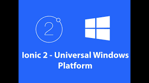 Windows Flatform Ionic 2 Universal Windows Platform