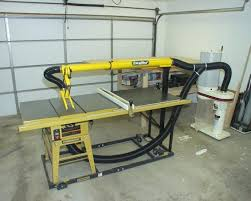 table saw dust collection table saw overarm table saw dust collection