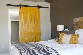 using barn doors at home yellow panel