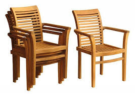 lincoln teak stacking chairs grade a