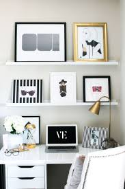 Add Streamlined Shelving // 20 Chic Ways to Organize Your Office. Bedroom  ...
