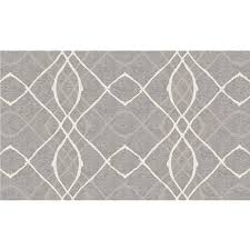 ruggable amara 3 ft x 5 ft grey indoor outdoor area rug runner