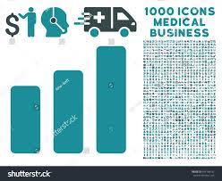 Bar Chart Increase Icon 1000 Medical Stock Vector Royalty