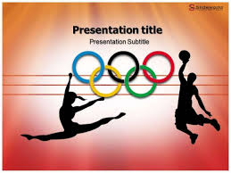 Olympic Powerpoint Template Slide World