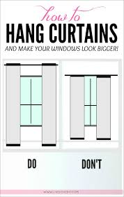 How To Hang Curtains To Make ANY Window Look Bigger Great Tips In - Standard bedroom window size