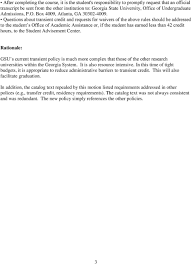 Motion Re Transient Credit The Current Policy Regarding