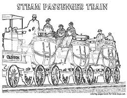 coloring of passenger steam train coach at yescoloring