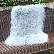 fur rug in curly mongolian