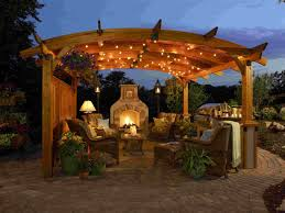 Do It Yourself Outdoor Kitchen Exterior Magnificent Patio With Black Wood Outdoor Canopy Do It