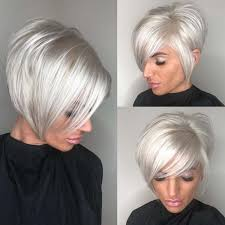 Die Schönsten Trendfrisureneye Popping Choppy Side Parted Pixie Bob