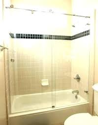 how to install bathtub sliding glass doors cost new