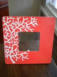hand painted c picture frame