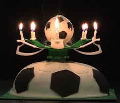 al rotating football soccer birthday celebration candles cake topper happy birthday candles with 8 candle lights