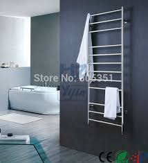 tall wallmounted stainless steel towel warmer electric heated rail bathroom dryer hz bar64