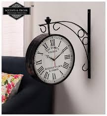 accents decor metal og wall clock